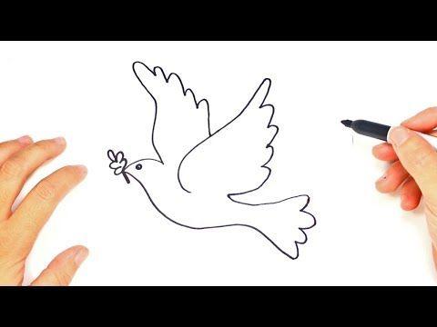 Como Dibujar Una Paloma Dibujo Facil De Una Paloma Paso A Paso Youtube Paloma De La Paz Dibujos De Palomas Dibujos De La Paz