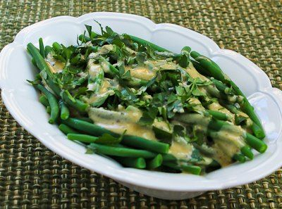 Kalyn's Kitchen®: Barely-Cooked Green Beans with Tahini-Lemon Sauce (plus 10 More Green Beans Recipes for Thanksgiving)