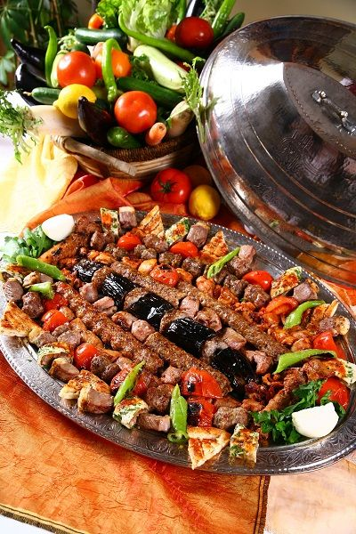 Traditional Turkish Food 'Kebab' - and very appetising one it ...
