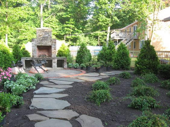 Backyards grasses and yard design on pinterest - No grass backyard ideas ...