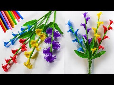 Cara Membuat Bunga Corong Cantik Sedotan Kreatif Easy Straw