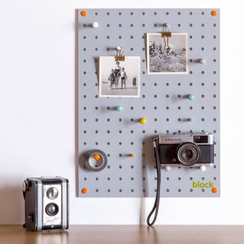 Block Design Grey Pegboard Small