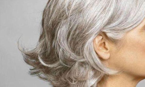 Beautiful gray hair!