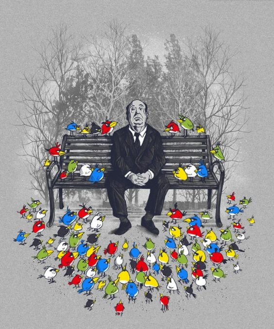 Hitchcock Angry Birds