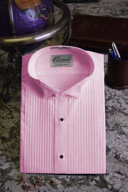 Pink Tuxedo Shirt