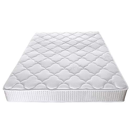 Hifort Full Size Mattress 8 Inch Medium Firm Pocket Coil Spring Tight Top Bamboo Fabric 108 Night Tri Mattress Memory Foam Mattress Topper Memory Foam Mattress