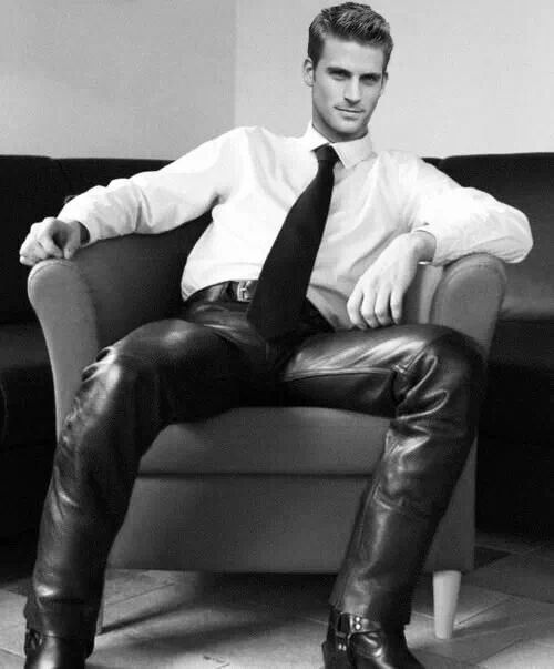 Stud In Leather Pants amp Harness Boots Hot Boys