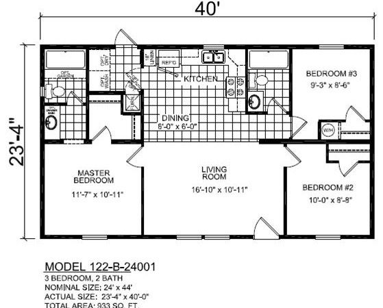 B24001 Multi Sectional Ranch Ridge Crest Home Sales Container House Plans Cabin Floor Plans 30x40 House Plans