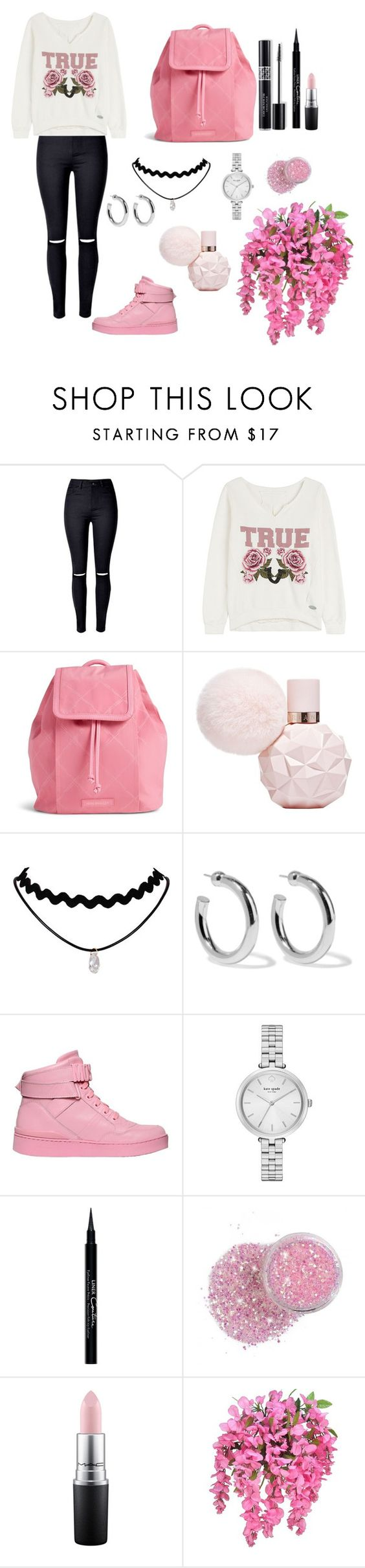 """""""Untitled #352"""" by lexikth ❤ liked on Polyvore featuring True Religion, Vera Bradley, Sophie Buhai, Moschino, Kate Spade, Christian Dior, Givenchy and MAC Cosmetics"""