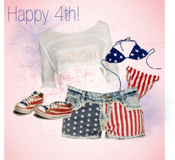 """Happy 4th!"" by haleymarie1210 on Polyvore"