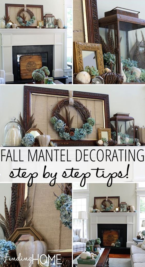 Step by step tips for decorating your mantel for fall - resource suggestions included