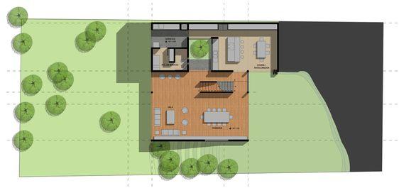 Residência U,Planta Baixa - primeiro pavimento