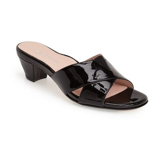 "Taryn Rose 'Obert' Slide Sandal, 2"" heel ($199) ❤ liked on Polyvore"