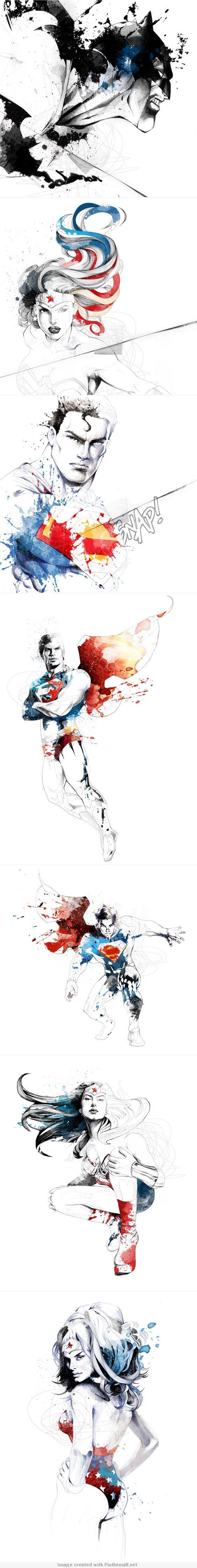 Pretty amazing art - DC COMICS by david despau <------ wait. Only one Batman pic?