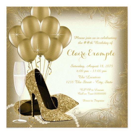 Invitación Fiesta Del Cumpleaños De Marfil De La Mujer Del