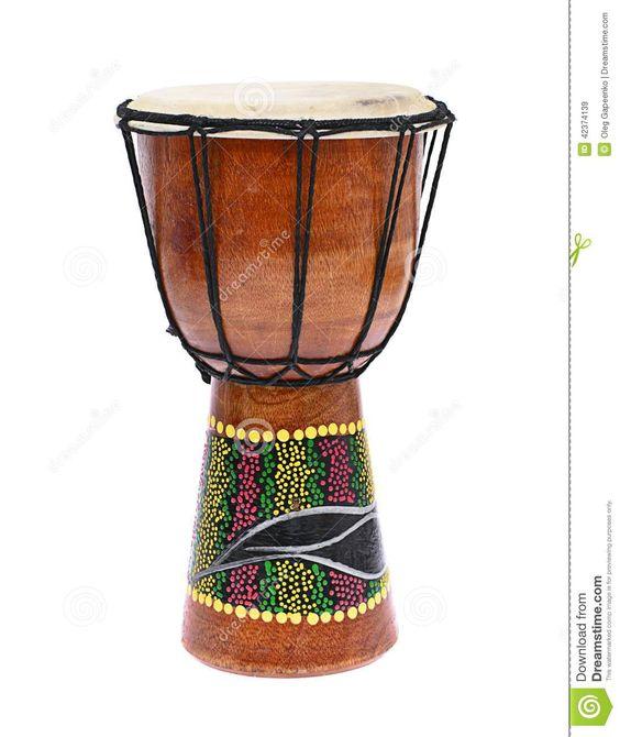 Afrikanische Hölzerne Trommel Lokalisiert Auf Einem Weißen Hintergrund Stockfoto - Bild: 42374139