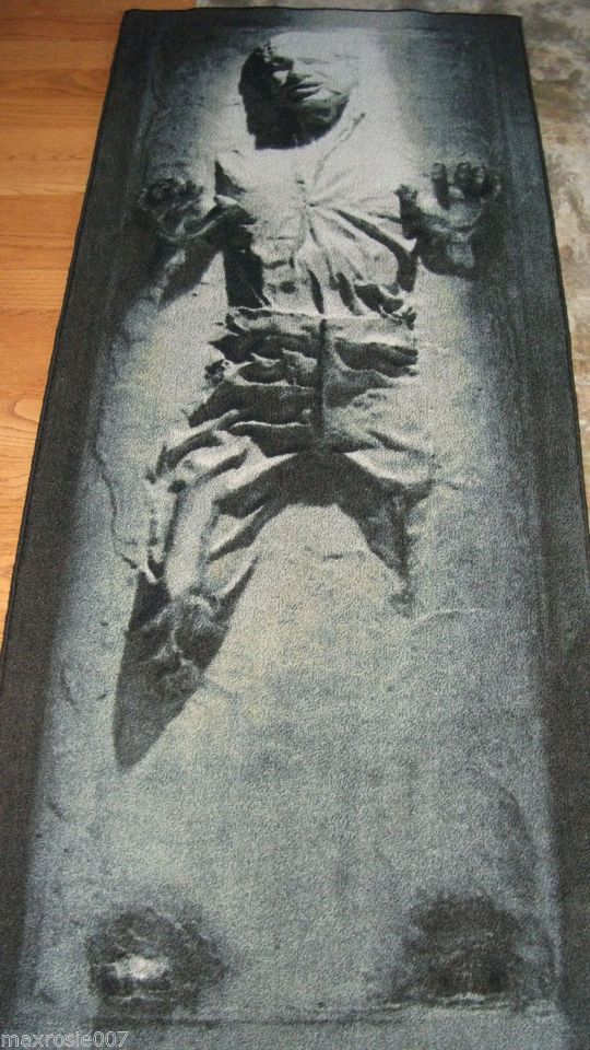 Perfect Han Solo Non Skid Area Rug Carbonite This Is The Medium Sz Star Wars Runner