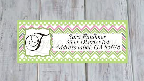 Chevron multicolored Address labels Printable by Imaginebottlecaps, $3.00