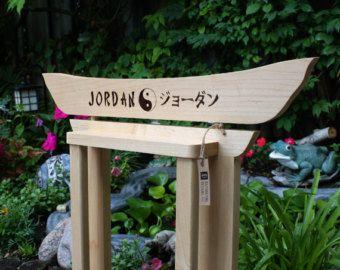 Karate Belt Display Custom Oak & Maple Wall by RozEmazingDesigns