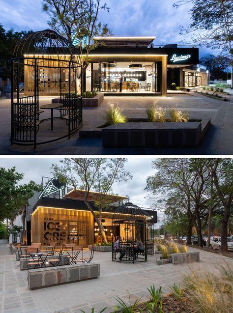 New Design Cafe Exterior Coffee Shop Ideas Arsitektur Modern Arsitektur Desain Eksterior