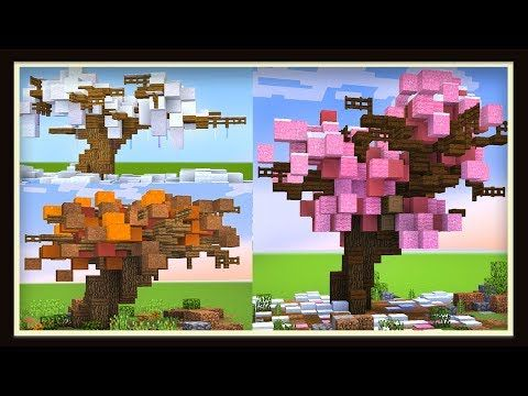 5 Awesome Minecraft Trees For Your Survival Worlds Scarchitecture Ep2 Youtube Minecraft Tree Minecraft Survival Minecraft Crafts