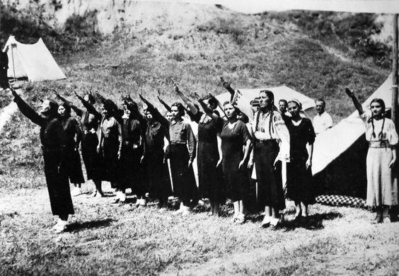 Female Iron Guard members Romania