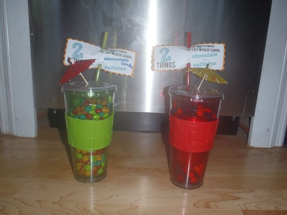 I loved this idea - I found the cups at Walmart and they also had mini bottles of coca-cola that fit perfectly inside with room for skittles/smarties around them