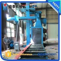 Auto H beam steel plate steel shot blasting machine for marine castings/tower…