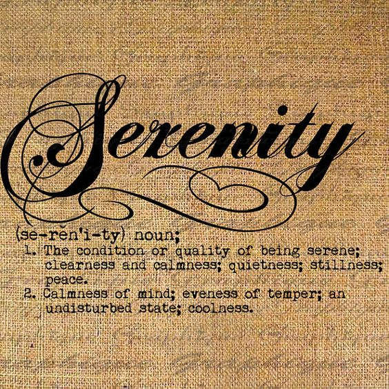 Can somebody help me write an essay on the word serenity?