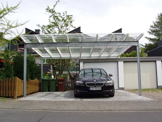 stahl leimholz carport mit glasdach garage hobbyraum. Black Bedroom Furniture Sets. Home Design Ideas