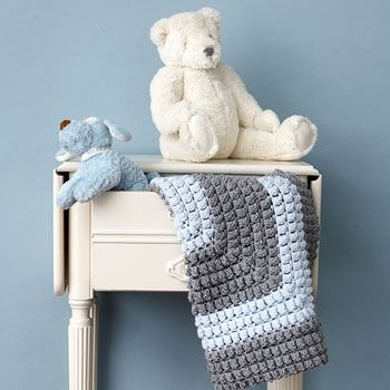Free Crochet Popcorn Baby Blanket Pattern : Download Free Pattern Details - Beehive Baby Sport - All ...