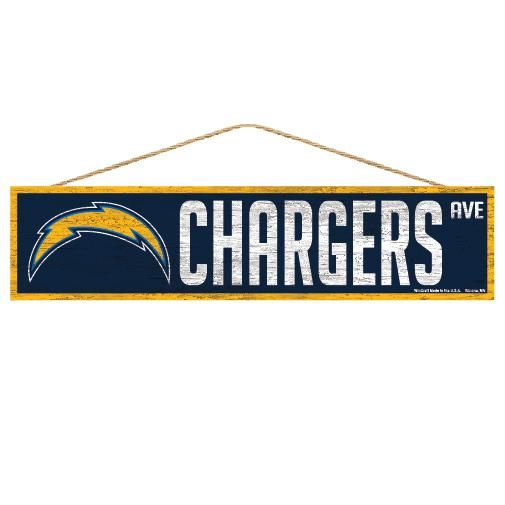 Los Angeles Chargers Sign 4x17 Wood Avenue Design In 2020 Los Angeles Chargers Avenue Design Los Angeles