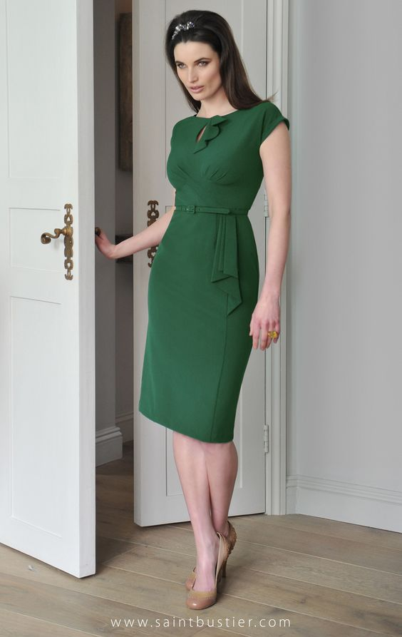 The Rita Dress in green, as worn by Holly Willoughby. Shop online for high fashion for busty women, from C to G cup bust size dresses, tops, jackets, coats & bikinis.