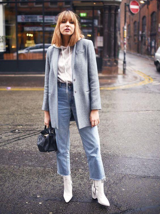 15 looks que te ensinam como usar bota branca com peças simples ...