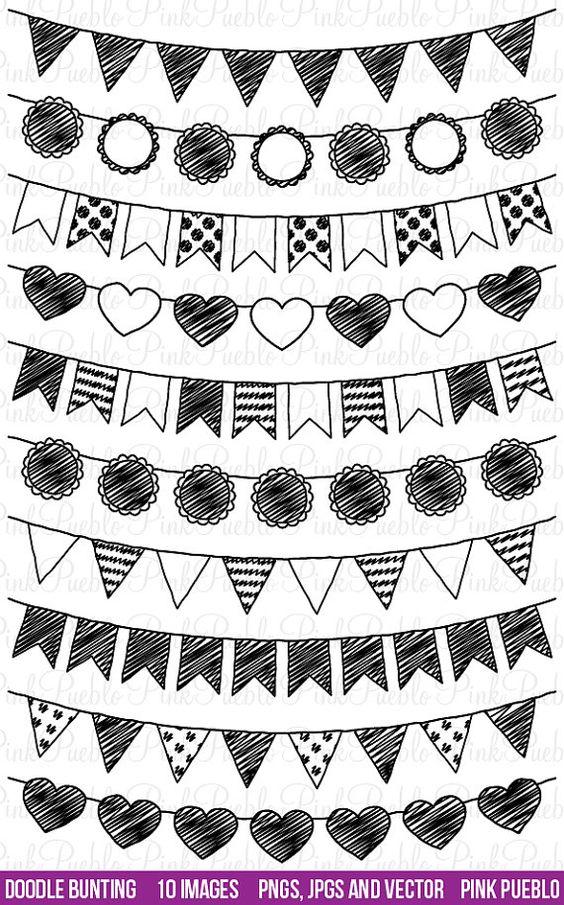 Notre Doodle Bunting Clipart comprend 10 fichiers PNG avec fond transparent, 10 fichiers JPG avec fond blanc et 1 fichier de vectoriel Adobe Illustrator.  Chaque image est de 300dpi et 12 pouces à son point le plus large. Ils sont faciles à Recolorier, redimensionner et réorienter dans votre logiciel de retouche dimage préféré.  Nous sommes toujours acheter trois GET ONE FREE ! Achetez tous les trois éléments dans notre boutique et obtenir gratuitement un autre élément ! Le point le plus bas…