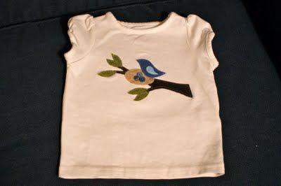 Appliqued Birdie Shirt