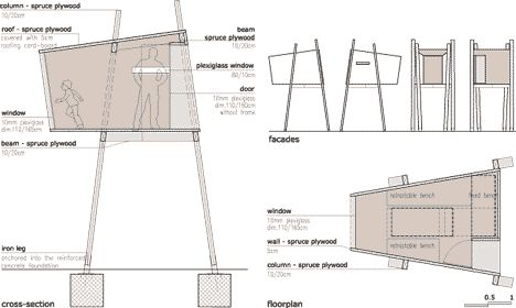 Tree House: Ravnikar Potokar [plan/section]