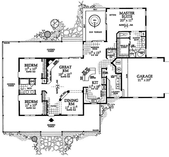 plan w81331w corner lot farmhouse country house plans home designs