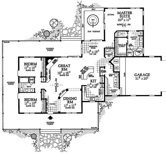plan w81331w corner lot farmhouse country house plans home designs