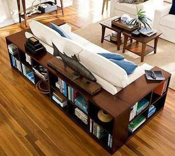 Wrap the couch in bookcases. 27 Brilliant Home Remodel Ideas You Must Know