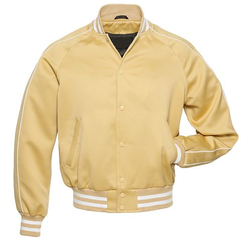 Hito Elegant College Vegas Gold | White Satin Letterman Custom ...
