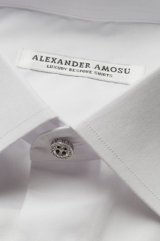Alexander Amosu Bespoke shirt with Diamond button