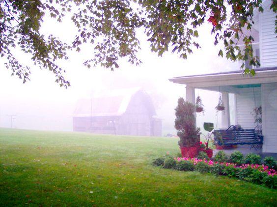 August fog, winter snow, Southwest Virginia