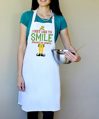 Look at this #zulilyfind! 'Smiling is My favorite' Apron #zulilyfinds
