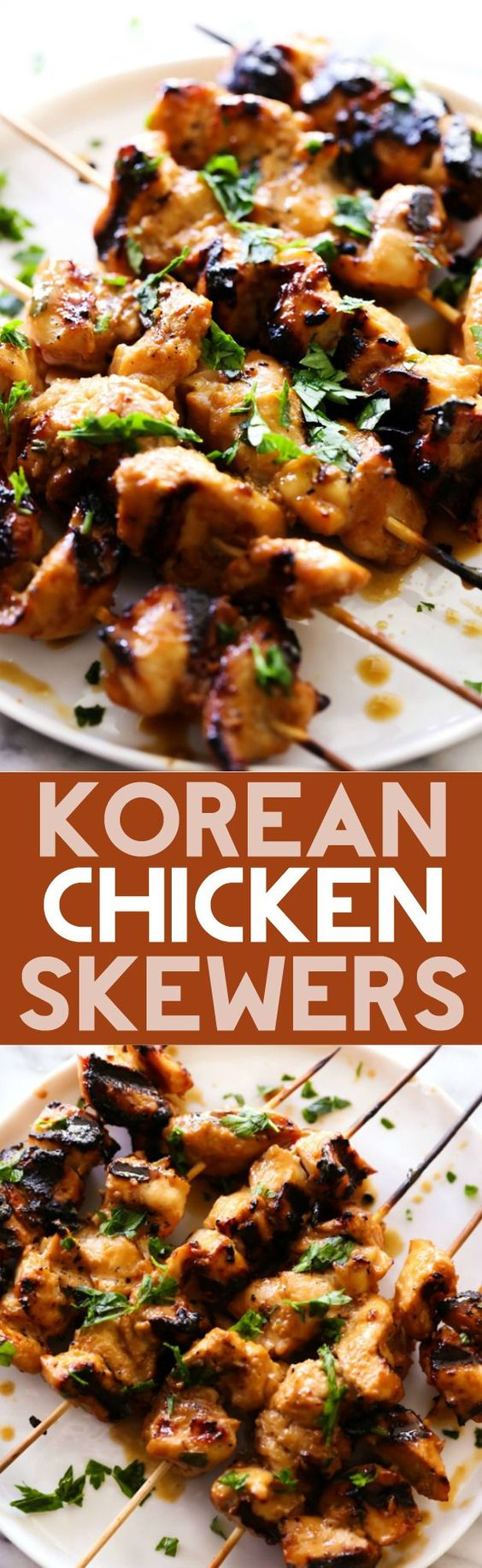 These Korean Chicken Skewers make for an easy and tasty meal. Delicious marinated chicken is grilled to perfection with a refreshing flavor.