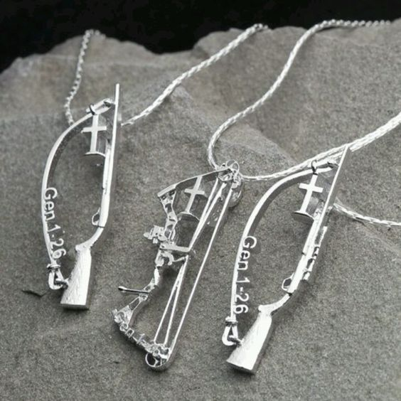 Bowhunter & rifle cross . Support women who hunt! These are neat!! www.facebook.com/savagesisters