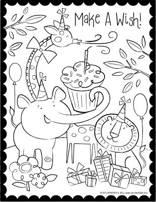 We Love to Illustrate: August FREE Downloadable Coloring Pages!