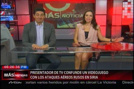 Presentador De Tv Confunde Un VideoJuego Con Los Ataques Aereos Rusos En Siria #Video
