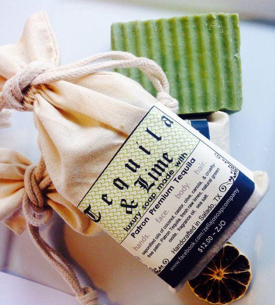 TEQUILA & LIME Margarita Soap made with Patron by ZellaJoSoapCo