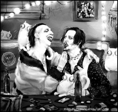 Marilyn Manson Johnny Depp Marilyn Manson Art Marilyn Manson Johnny Depp
